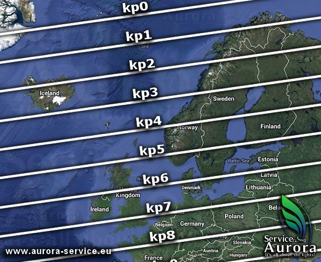 Check Abisko kp index for today!